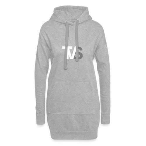 TVS Weiß/Grau - Hoodie-Kleid