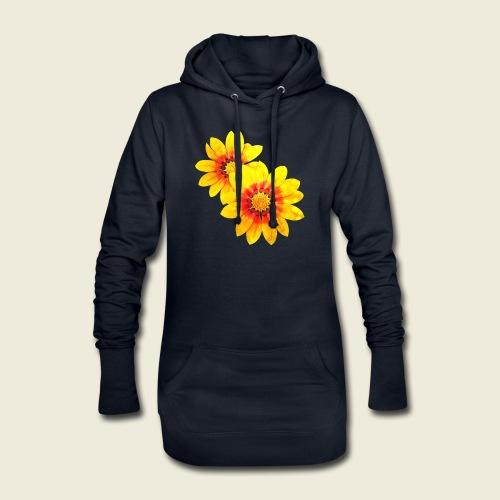 Leuchtende gelbe Blumen - Hoodie-Kleid