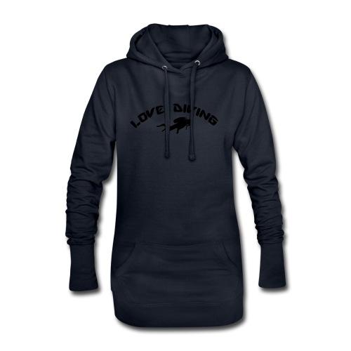 love diving - Hoodie-Kleid