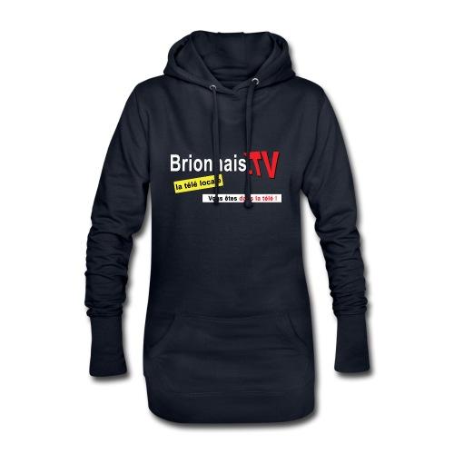 BTV logo shirt dos - Sweat-shirt à capuche long Femme