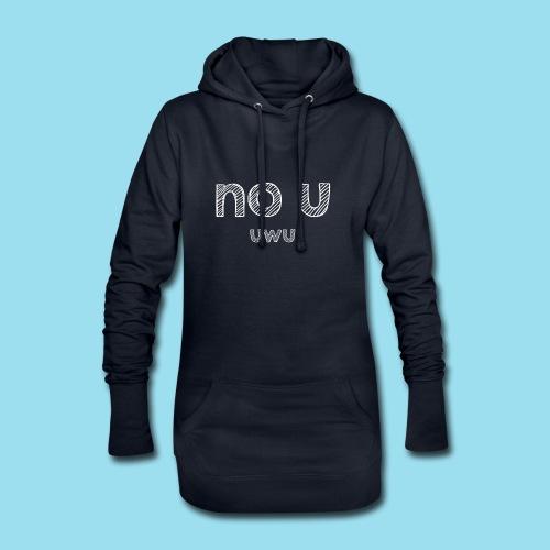 no u - Hoodie-Kleid