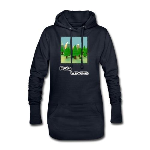 Poly Lovers - Sudadera vestido con capucha