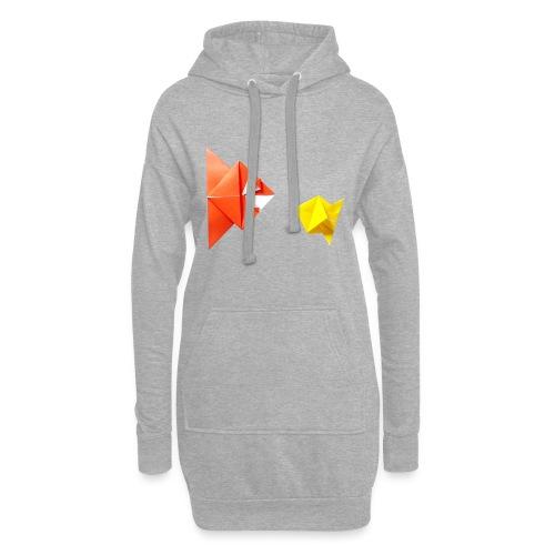 Origami Piranha and Fish - Fish - Pesce - Peixe - Hoodie Dress