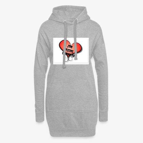 saint valentin coeur amour - Sweat-shirt à capuche long Femme