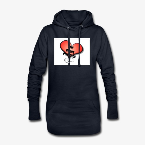 saint valentin coeur amour - Sweat-shirt à capuche long Femme