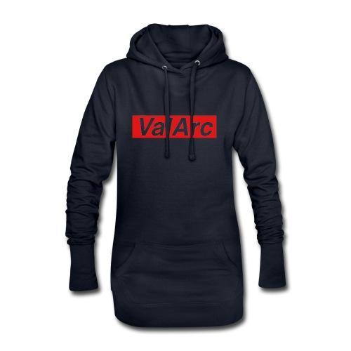 ValArc Text Merch Red Background - Sweat-shirt à capuche long Femme