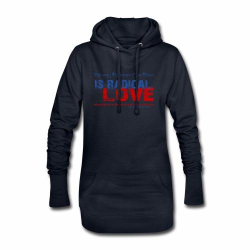 Radikale Liebe blue - Hoodie-Kleid