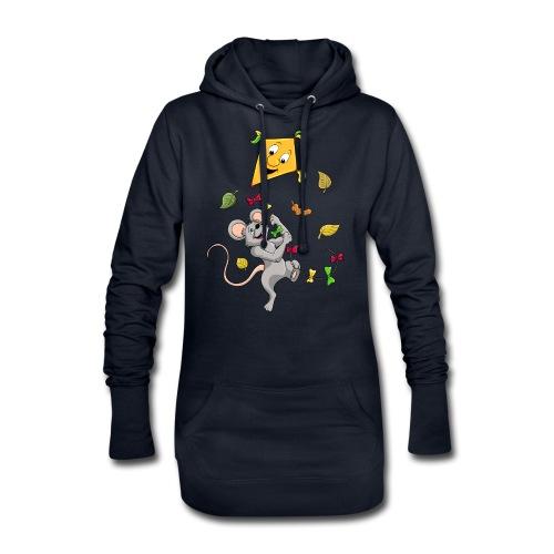 Maus mit Drachen im Herbst - Hoodie-Kleid