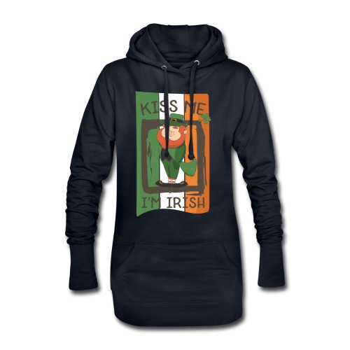 St. Patrick's Day Leprechaun - I'm Irish - Kiss Me - Hoodie Dress