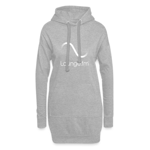 loungefm logo weiss - Hoodie-Kleid