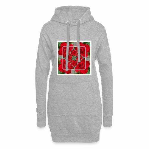 Rose Design - Hoodie-Kleid