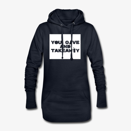 You give and take-away - Hoodie-kjole