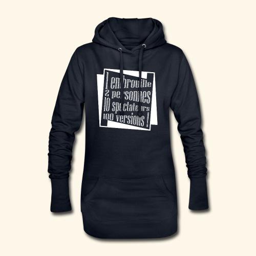 embrouille - Sweat-shirt à capuche long Femme