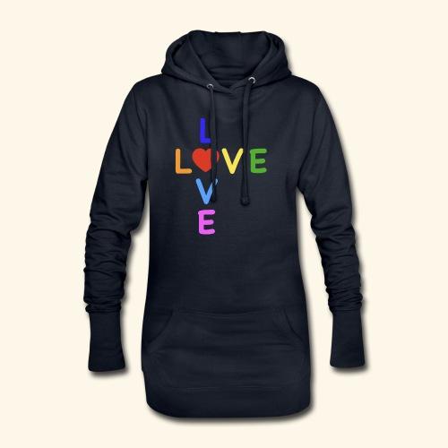 Rainbow Love. Regenbogen Liebe - Hoodie-Kleid