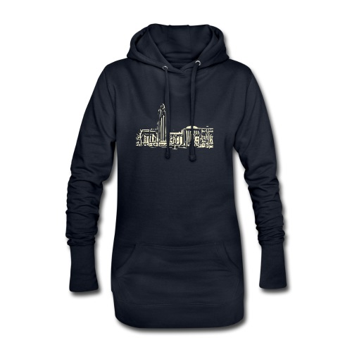 Helsinki railway station pattern trasparent beige - Hoodie Dress