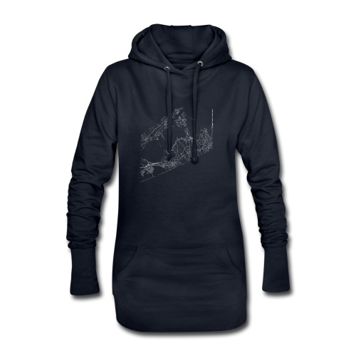 Minimal The Hamptons city map and streets - Hoodie Dress
