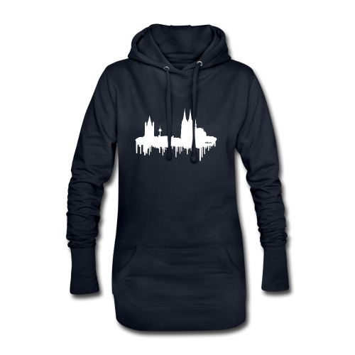 Skyline Köln - Weiß - Hoodie-Kleid