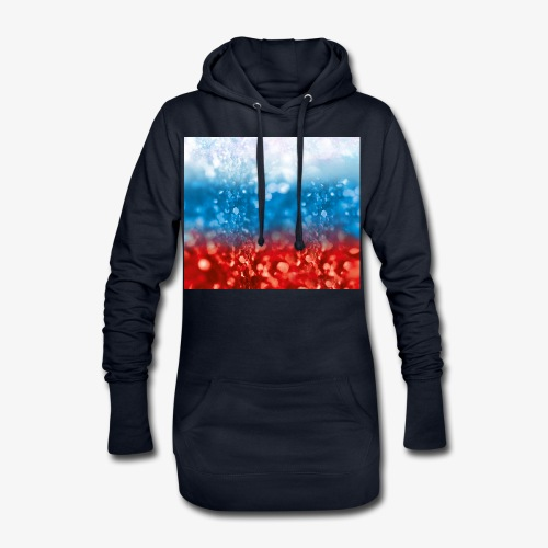 05 Russland Flagge Fahne Glitzer Russia - Hoodie-Kleid