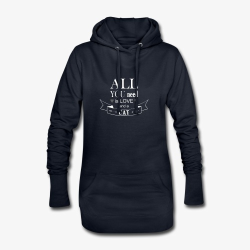 All You Need is LOVE And a CAT - Hoodie-Kleid
