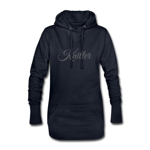 Knitter, dark gray - Hoodie Dress
