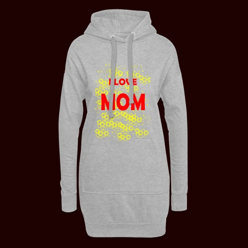 I LOVE MOM - Sweat-shirt à capuche long Femme
