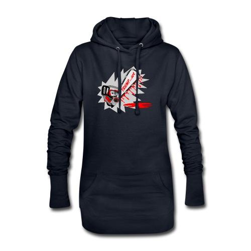 t shirt trump ...art la politique tronconneuse - Sweat-shirt à capuche long Femme