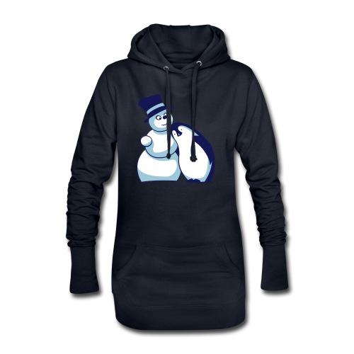 Schneemann und Pinguin - Hoodie-Kleid