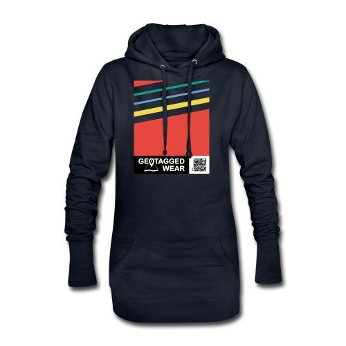 Unisex Stripes Pantone Colored - Hoodie-Kleid