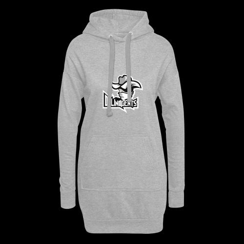 Delinquents Hvidt Design - Hoodie-kjole