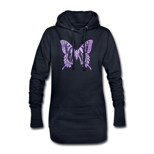 Watercolor Butterfly - Sweat-shirt à capuche long Femme