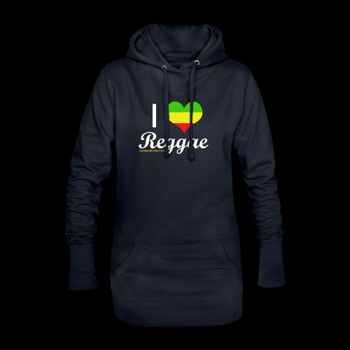 I LOVE Reggae - Hoodie-Kleid