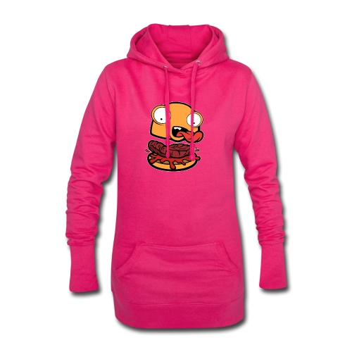 Crazy Burger - Sudadera vestido con capucha