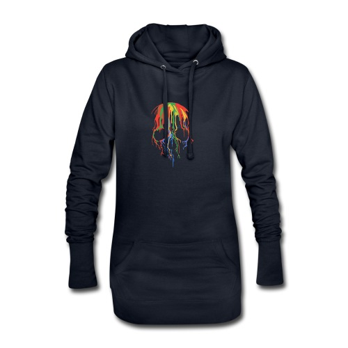 Skull and Colours - Sudadera vestido con capucha