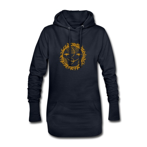 Golden Sunmoon Rising - Hoodie Dress