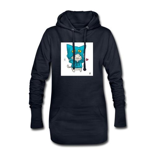 Gato con traje azul - Sudadera vestido con capucha