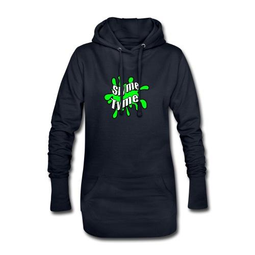 Slyme Tyme Logo / White To Green - Hoodie Dress
