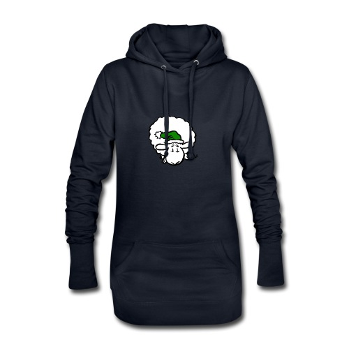 Santa Sheep (green) - Hoodie Dress