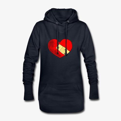 Herzschmerz - Hoodie-Kleid