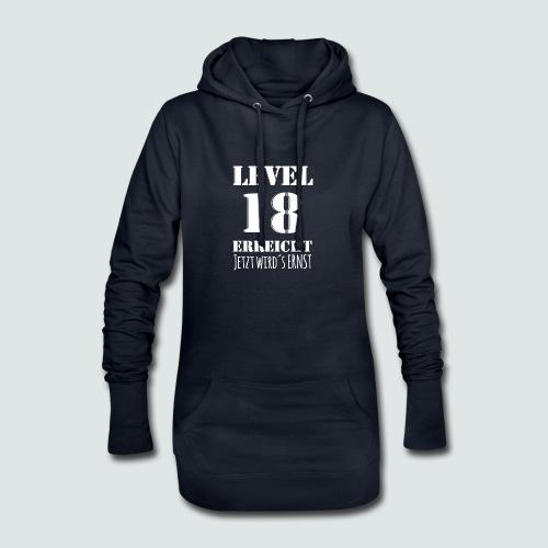 18er Geburtstag - LEVEL 18 ERREICHT - MOTIV - Hoodie-Kleid