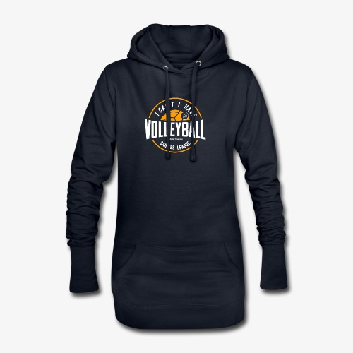 je peux pas j ai volley - Sweat-shirt à capuche long Femme