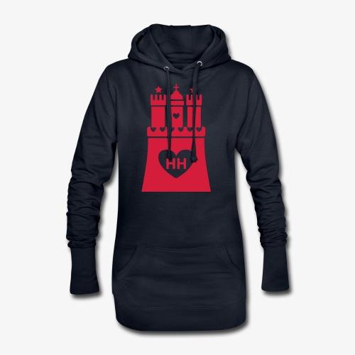 Ich liebe Hamburg 1c - Hoodie-Kleid