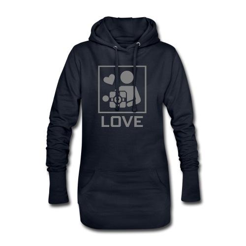 SPREADSHIRT_PORTAL_CUBE_LOVE - Vestitino con cappuccio