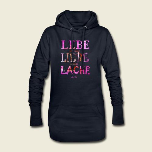 Lebe Liebe Lache pink rosa - Hoodie-Kleid