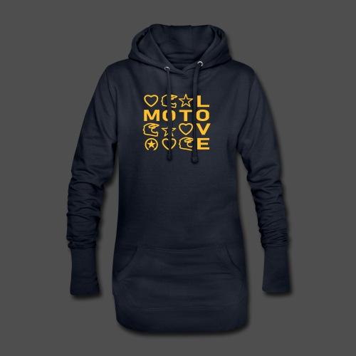 MOTO LOVE - Długa bluza z kapturem