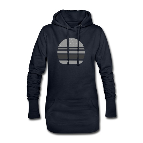 Logo_panhamburger_gris - Sweat-shirt à capuche long Femme