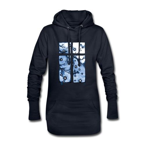 Für immer und ein Tag (blau) - Hoodie-Kleid