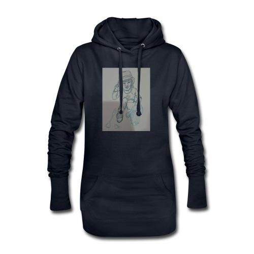 Camiseta con retrato - Sudadera vestido con capucha