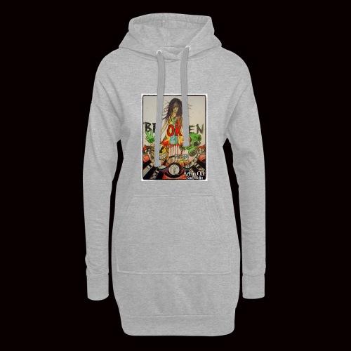 BrOKen - Sweat-shirt à capuche long Femme