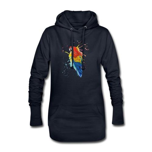 Parrot Watercolors Nadia Luongo - Vestitino con cappuccio