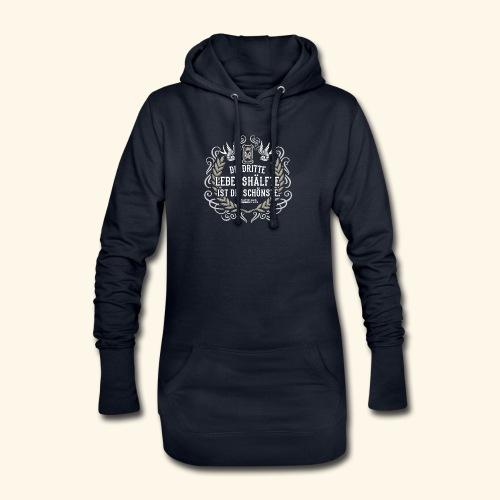 Sprüche T Shirt Die dritte Lebenshälfte - Hoodie-Kleid